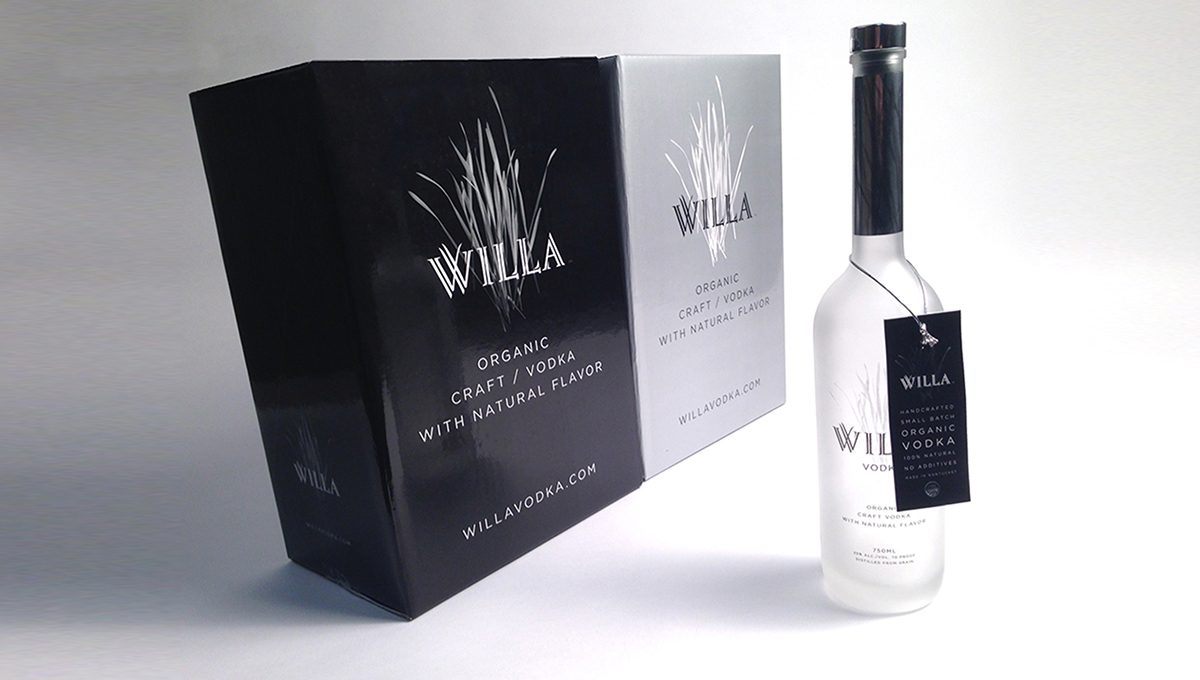 Willa Craft Vodka Packaging