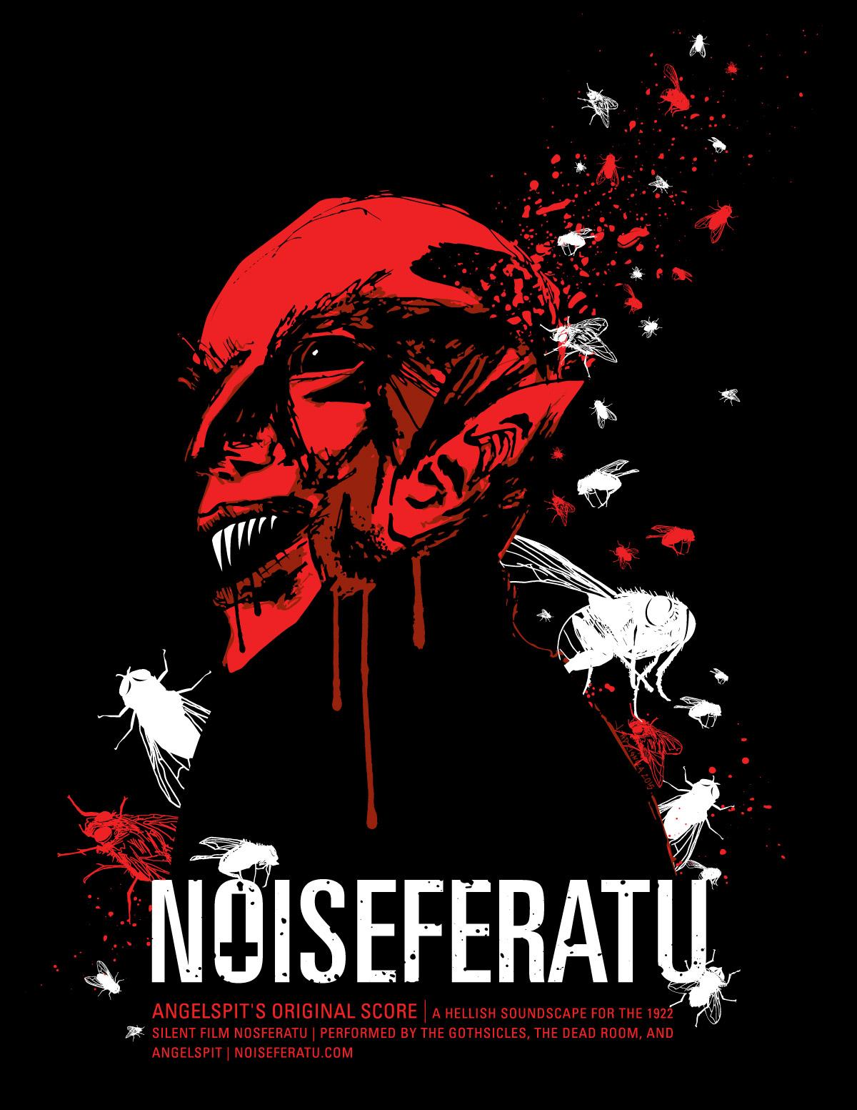 Angelspit Noiseferatu show poster by Jessi Adrignola