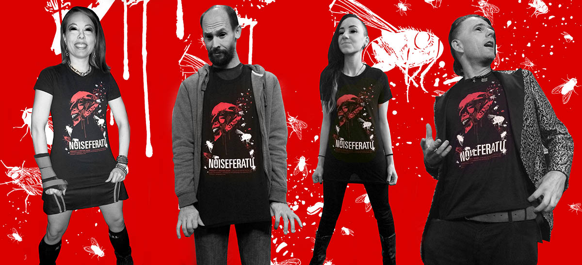 Noiseferatu t-shirt designs for Angelspit by Jessi Adrignola